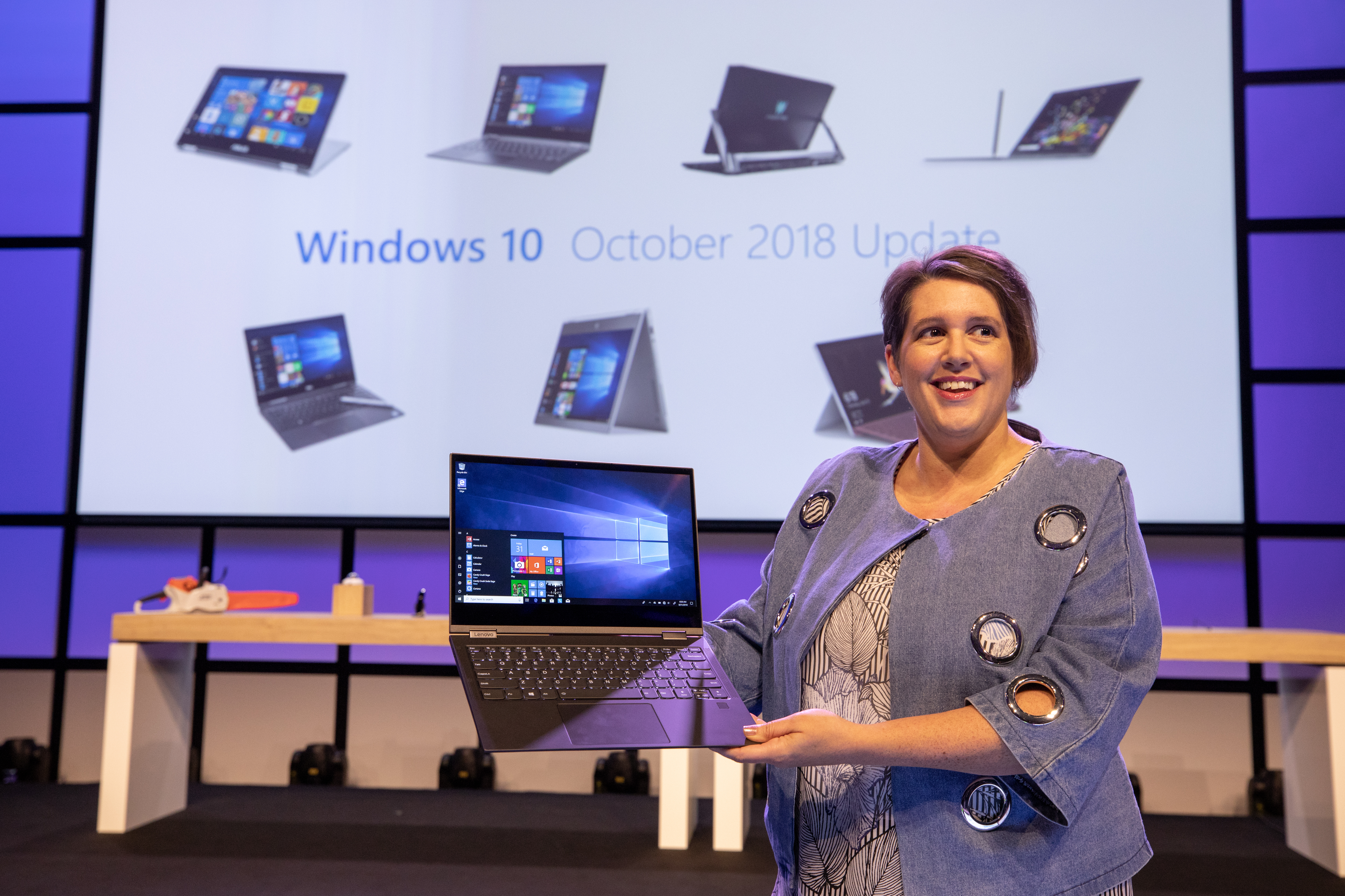 Erin Chapple, corporate vice president, Microsoft, speaking at the IFA 2018 keynote in Berlin